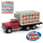 Classic Metal Works 30496 '60 Ford Refrigerated Box Truck Schaefer Beer 1:87 HO