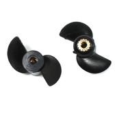Rage R/C RGRB1145 Propellers (2) : Black Marlin MX