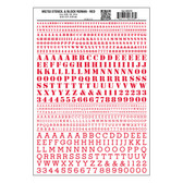 Woodland Scenics MG753 Dry Transfer Decals Stencil & Block Roman Red All Scales