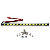 Nitro Hobbies 1/10 Aluminum White Super Bright LED Light Bar w/ Short Mount Silver