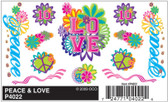 Woodland Scenics PineCar P4022 - Dry Transfer Decals - Peace & Love All Scales