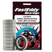 Fast Eddy Bearings TFE270 12x18x4 Rubber Sealed Bearing 6701-2RS (10 Units)