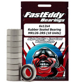 Fast Eddy Bearings TFE272 6x12x4 Rubber Sealed Bearing MR126-2RS (10 Units)