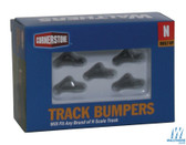Walthers 933-2605 Track Bumper - Built-Ups Dark Gray Pkg (5) : N Scale