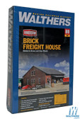"""Walthers  933-2954 Brick Freight House Kit - 9-3/4 x 9-3/8 x 4-3/8"""" : HO Scale"""