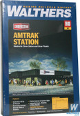 "Walthers 933-3038 Amtrak(R) Station Kit - 8-9/16 x 11-13/16"" : HO Scale"