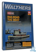 "Walthers 933-3153 Railroad Tugboat Kit - 13 x 3-1/2 x 3-7/8"" : HO Scale"