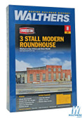 "Walthers 933-3260 3-Stall Modern Roundhouse Kit 10-13/16 x 3-15/16"" : N Scale"