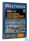 Walthers  933-3483 Wayne Brothers Ford Dealership Kit : HO Scale