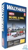 """Walthers  933-3485 DQ Grill & Chill (R) Kit - 7-1/4 x 5-3/8 x 2-3/4"""" : HO Scale"""