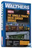 Walthers 933-4505 30' Single-Track Railroad Deck Girder Bridge Kit : HO Scale