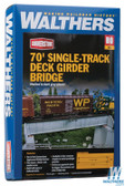 Walthers 933-4507 70' Single-Track Railroad Deck Girder Bridge Kit : HO Scale