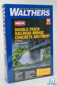 Walthers  933-4553 Double-Track Railroad Bridge Concrete Abutment (2) Kit : HO Scale