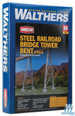 Walthers 933-4555 Steel Railroad Bridge Tower Bent 2-Pack Kit : HO Scale