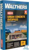 Walthers 933-4560 Urban Concrete Overpass Kit : HO Scale