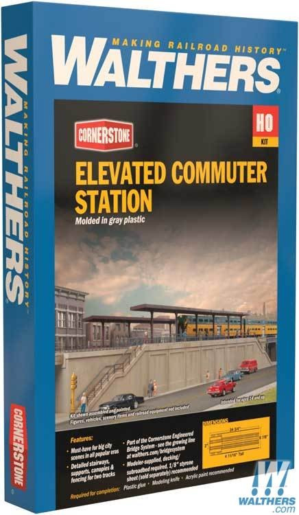 Walthers 933-4563 Elevated Commuter Station Kit 20-1/2 x 6-7/8 x 4-11/16