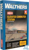 "Walthers 933-4563 Elevated Commuter Station Kit 20-1/2 x 6-7/8 x 4-11/16"" : HO Scale"