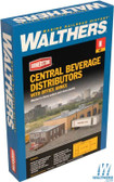 Walthers 933-3861 Central Beverage Distributors w/ Office Annex Kit : N Scale