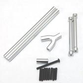 STRC CNC Machined Alum. Front & Rear Upper Suspension Link Kit Silver : SCX10
