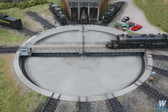 "Walthers 933-2859 Motorized 130' Turntable Assembled 19-1/8"" Overall Diam. : HO Scale"