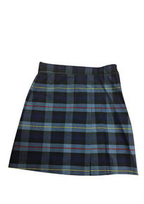 Plaid 2 Pleat Skort Front and Back (1026)