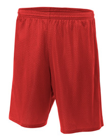 Red Mesh Gym Shorts