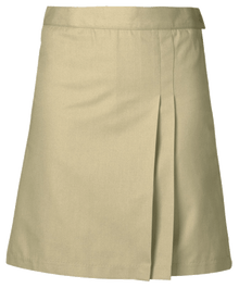 Solid 2 Pleat Skort Front and Back (Solid) (1035)