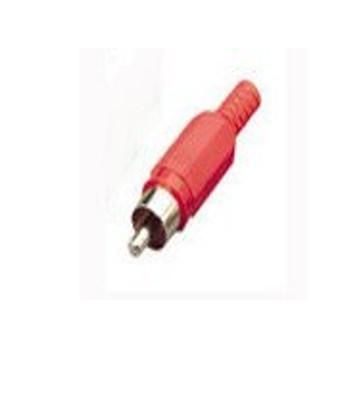 F249A RCA PHONO PLUGS RED SOFT PLAST