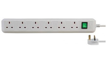 EXT6W-1.5M/ILSWB BRENNENSTUHL 6-WAY 1.5MTR WITH 1-SWITCH COLOR:WHITE