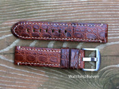 Panerai OEM Mare Nostrum A series strap brown alligator 22/22 mm