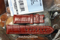 Panerai OEM Golden Brown Alligator 22/20 mm standard length 115/75 mm Retail $390 Now $350