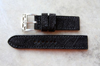 Rob Montana Black Textured Suede Calf 24 mm Standard Length Skull Buckle: $175 USD