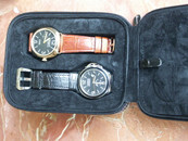 Four Watch Travel Case in Brown Leather $99 USD