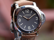 Panerai PAM 390 Luminor Special Edition Tobacco Dial Gold Hands 44mm