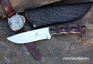 Arno Bernard Crocodile Hornback Fixed Blade w/ Water Buffalo Sheath SOLD