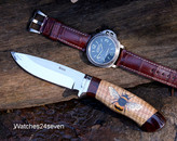 Brodziak & O'Connor Hand Painted Bee, Hunter Fixed Blade ON HOLD