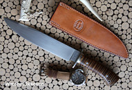 Jerry Fisk Bowie Fixed Blade with Sheath SOLD