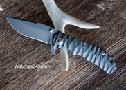 Tim Britton Tango DLC with Clip Liner Lock Flipper Folder Custom Knife w Case