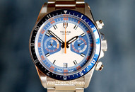Tudor Heritage Chronograph Blue & White Dial on Bracelet 42 mm
