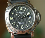 Panerai PAM 29 A Luminor GMT w Tritium Tuxedo Dial 44mm