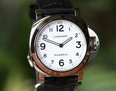 Panerai PAM 114 Luminor Base White Dia Steel  44 mm