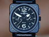 Bell & Ross Aviation BR03-94 Chronograph Black Carbon Coated 42mm