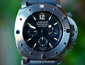 Panerai PAM 202 Slytech Submersible Titanium Chronograph Special Ed 47mm