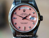 Rolex President Day Date White Gold, Pink Diamond Stella Dial, Ref. 18039