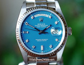 Rolex Day Date White Gold, Blue Diamond Stella Dial, Ref. 18039