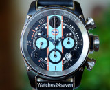 BRM Gulf Racing Chronograph Light Blue PVD Limited Edition 44mm, T-12-44-GU-1B