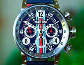 BRM Automatic Chronograph Martini Special Edition Blue 44mm