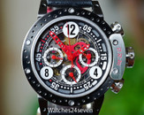 BRM Disc Brake Bezel Skeleton Chronograph Black Red 44mm, Ref. DDF12-44-SQ-AR