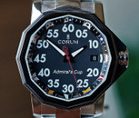 CORUM ADMIRALS CUP COMPETITION 40 BLACK NAUTICAL FLAG DIAL