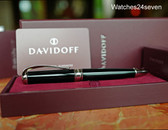 Davidoff Writing Instrument Ball Point Pen Black Lacquer Gift Boxed